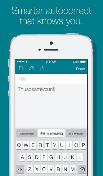 Alternative tastaturløsninger er i dag bundet til mer eller mindre nyttige apper i iOS-universet. Swiftkey er f.eks. koblet til sin egen notatapplikasjon.Foto: Swiftkey
