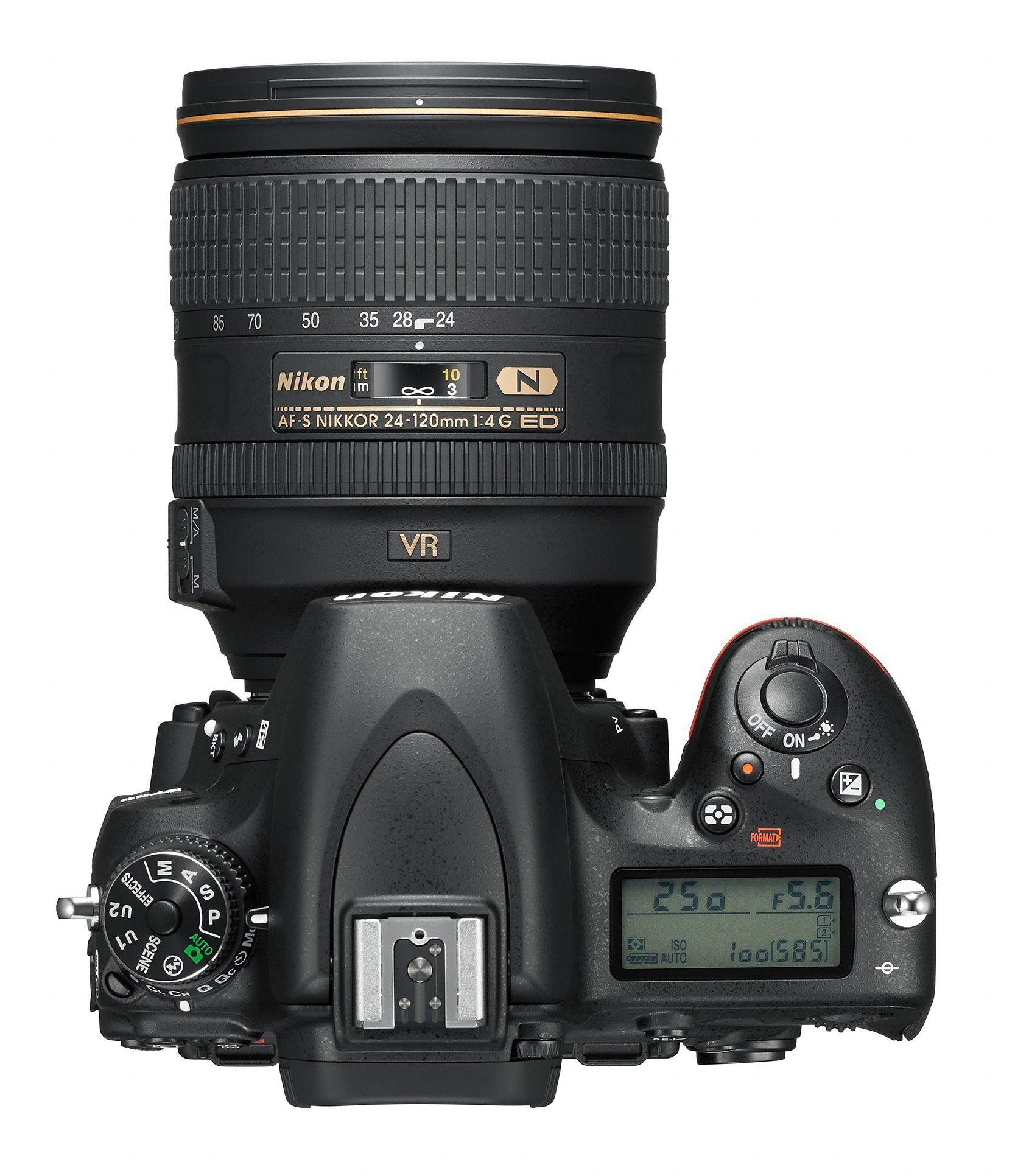 Nikon D750 sett fra oven.