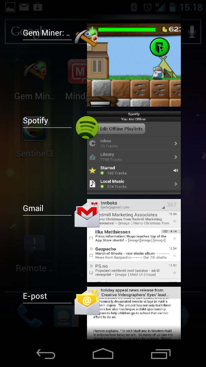 Flerprogramkjøring i nye Android er langt enklere enn i eldre utgaver.