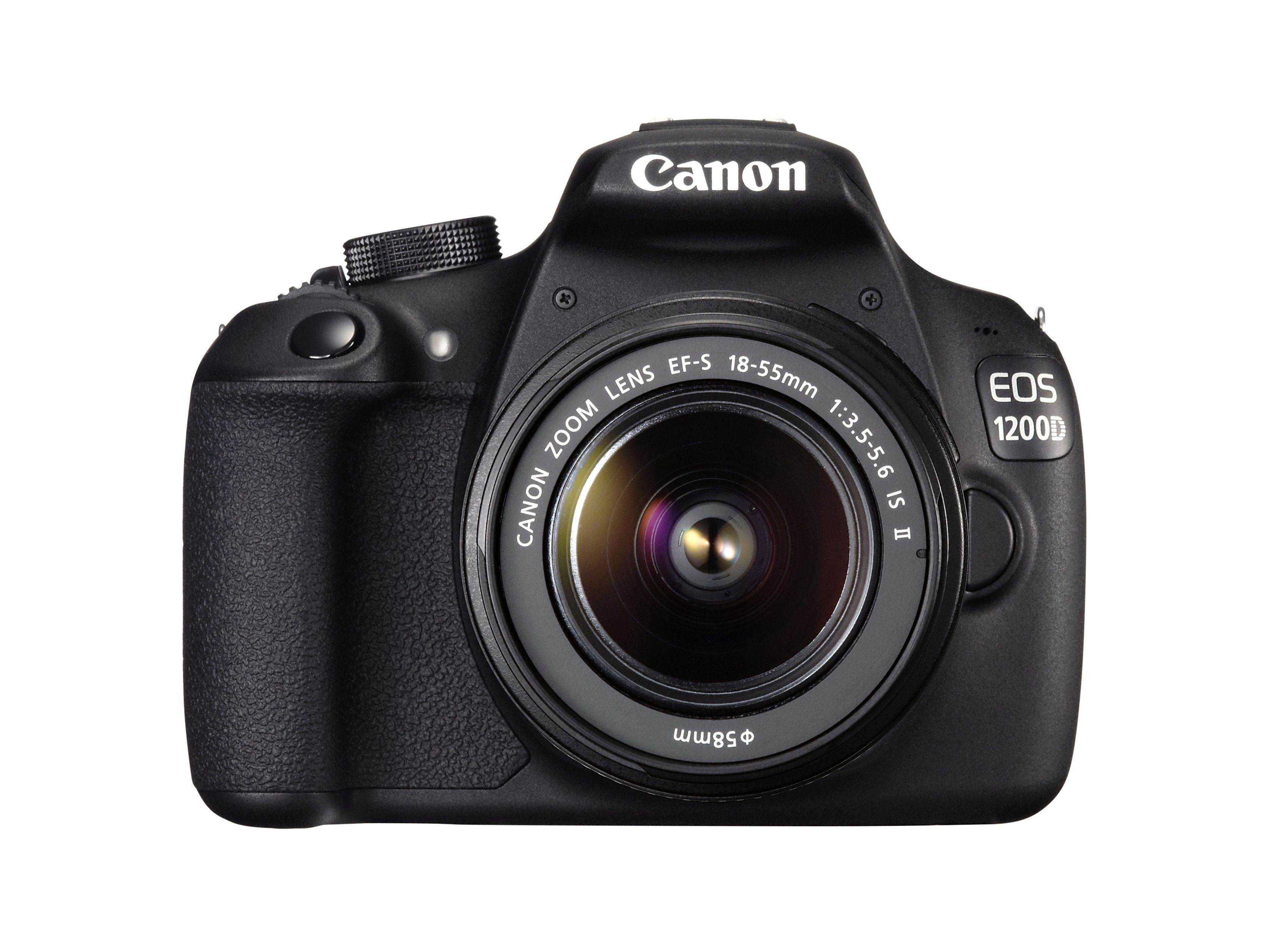 Selv med et objektiv er ikke Canon EOS 1200D store saken. (Foto: Canon)