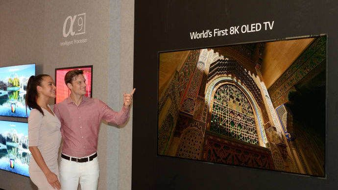 LG avslører verdens første 8K-OLED-TV