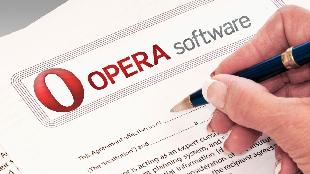 Opera inngår hemmelig avtale