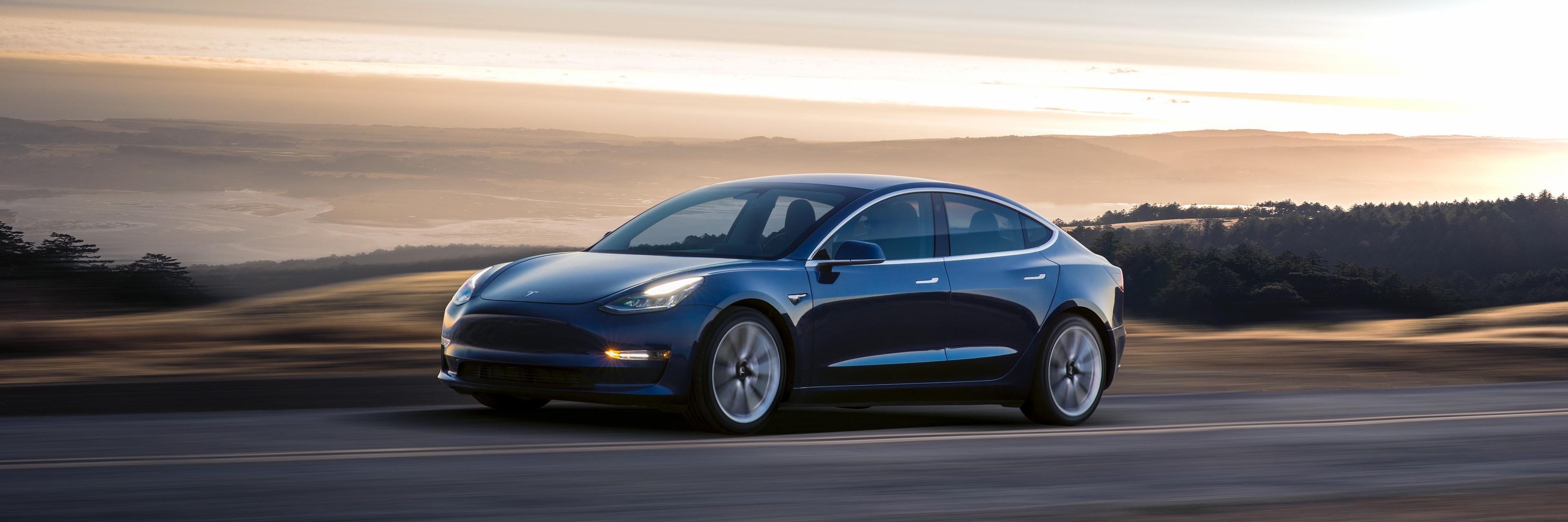Tesla Model 3. Bilde: Tesla