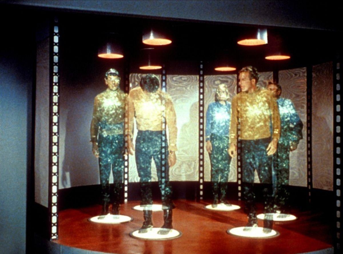 Teleportering fra den første Star Trek-serien.Foto: CBS