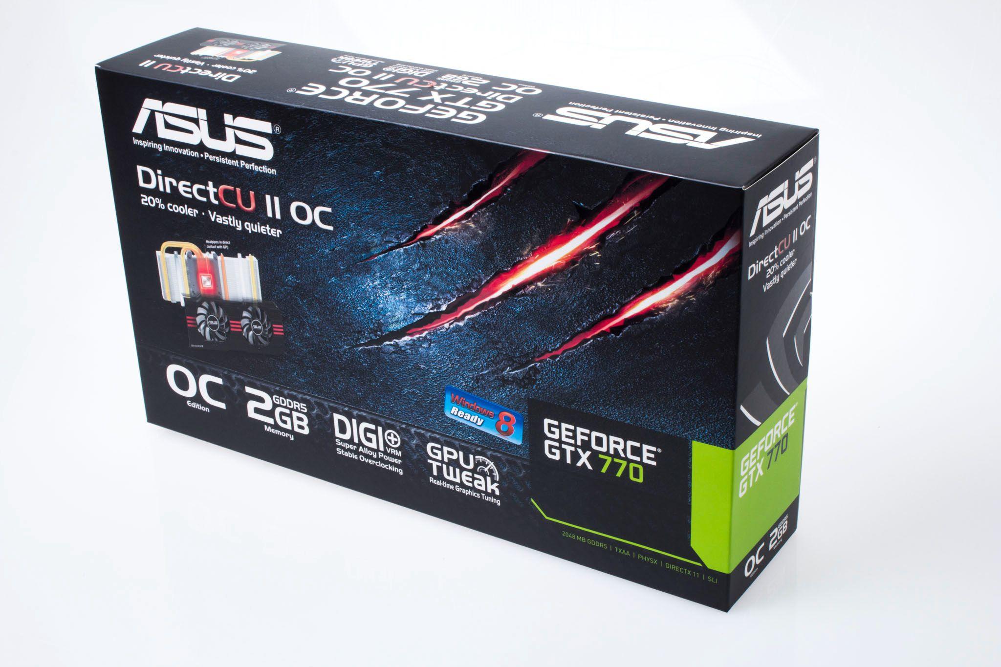 Asus GeForce GTX 770 DirectCU II OC: Produkteske.Foto: Varg Aamo, Hardware.no