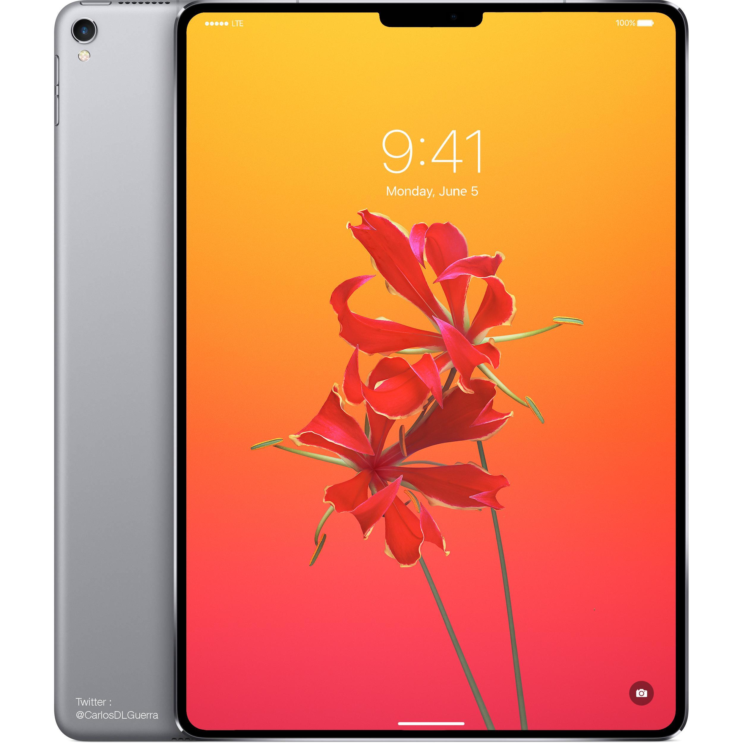 Slik vil iPad Pro se ut, skal vi tro konsepttegningen til designeren Carlos Guerra. Illustrasjon: Carlos Guerra