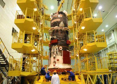 Bilde fra byggingen av Progress 59. Foto: RSC Energia