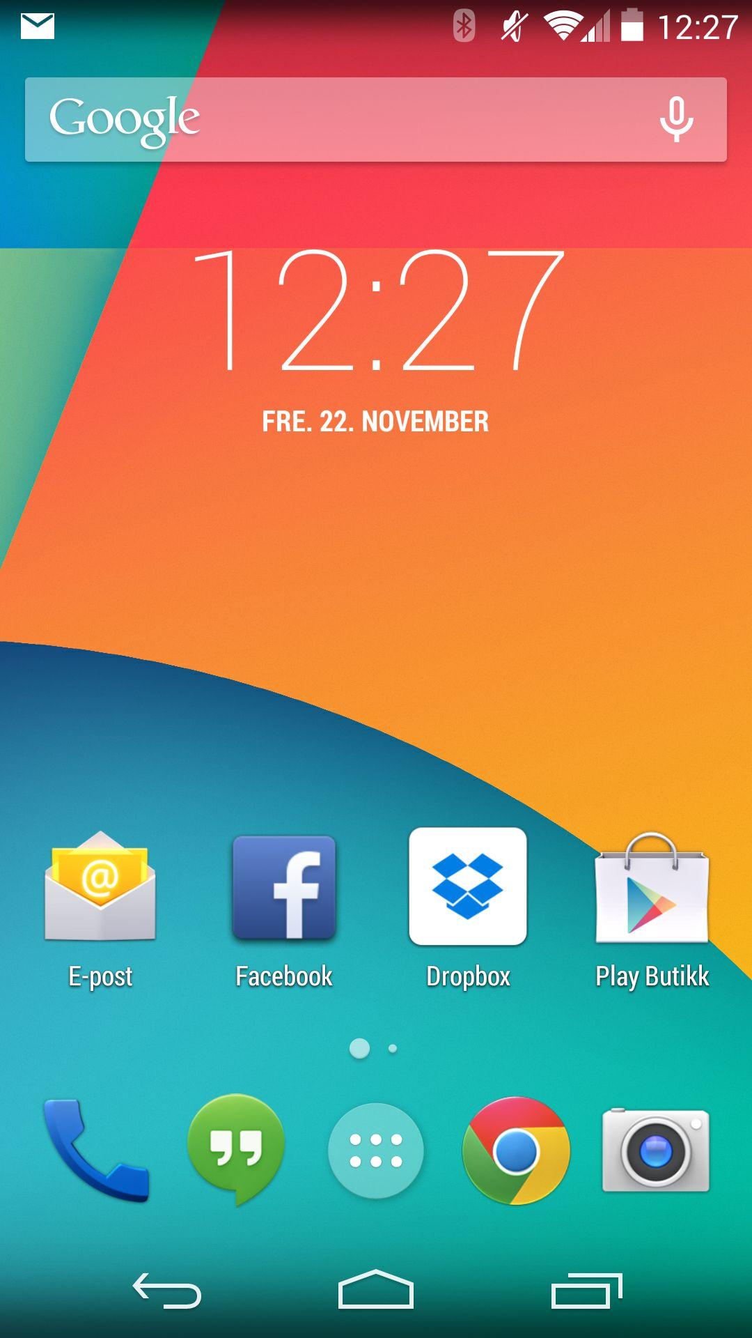 Android 4.4 har fått et hakk friskere design enn tidligere utgaver.Foto: Finn Jarle Kvalheim, Amobil.no