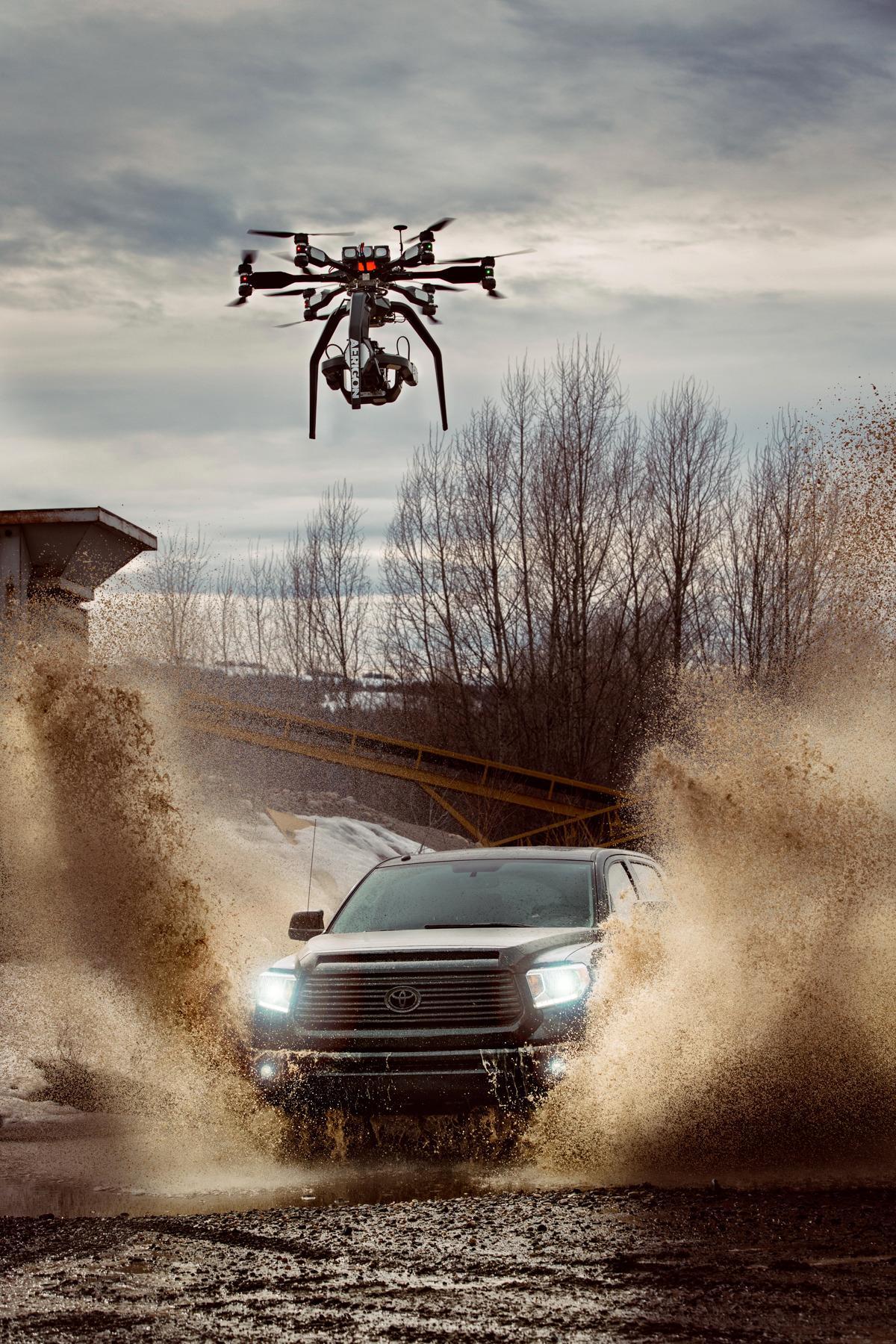 Videoen skal være den første som er filmet fra luften i 4K/1000 bilder per sekund. Foto: Brain Farm Cinema