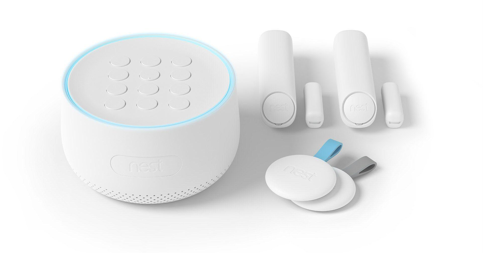 Nest Secure: Startpakke med fem deler.
