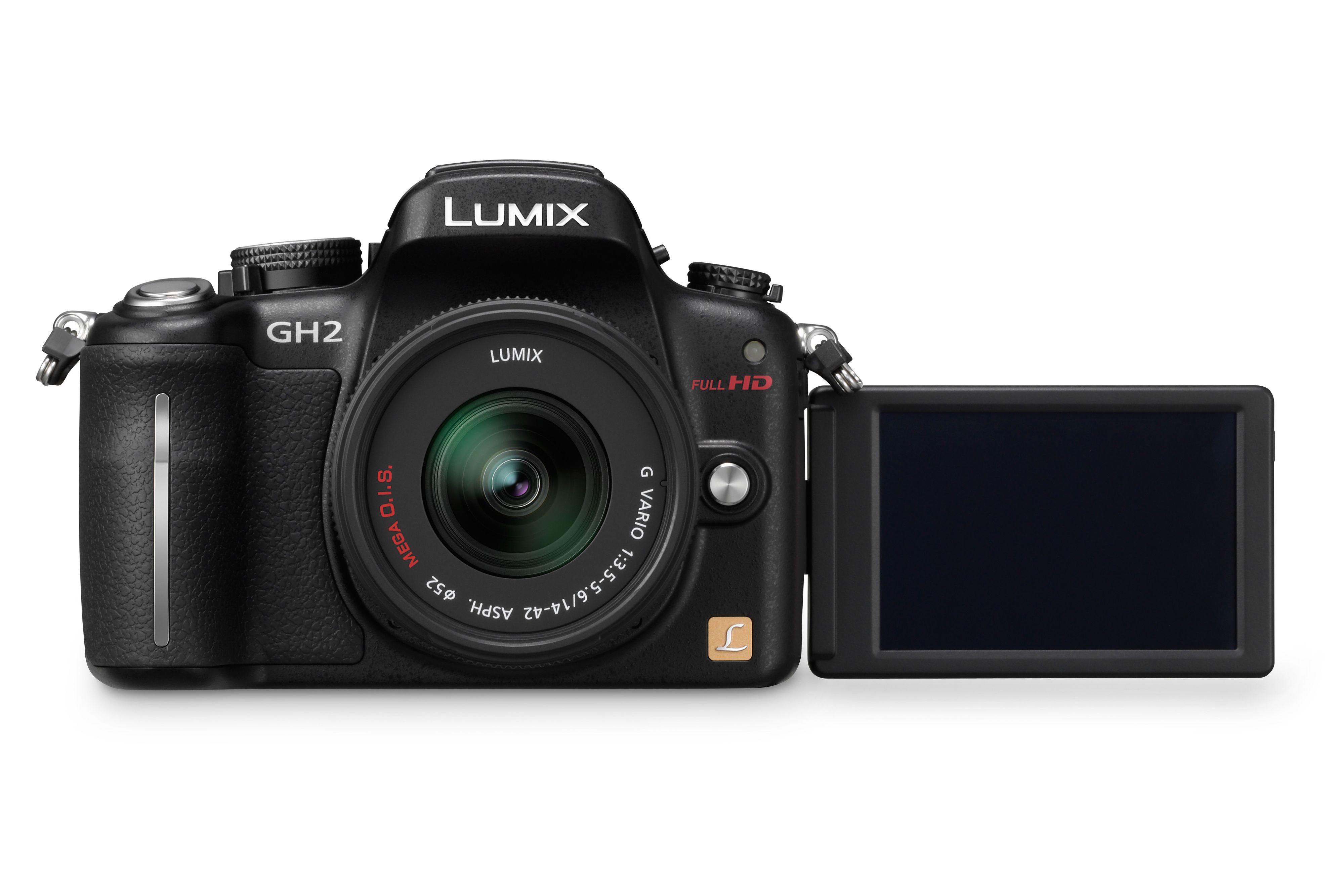 Panasonic GH2 med vridbar, trykkfølsom skjerm.