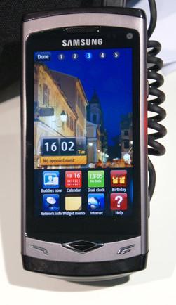 Samsung Wave med det nye operativsystemet Bada.