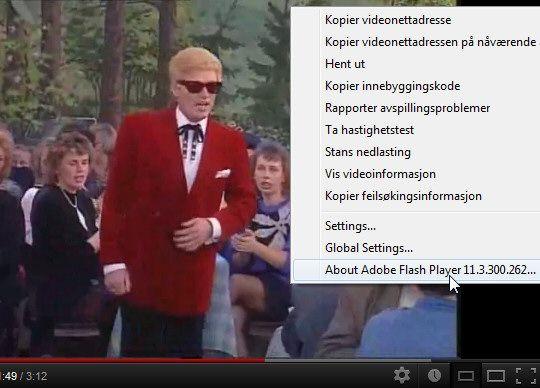 YouTube-videoer drives med Flash.