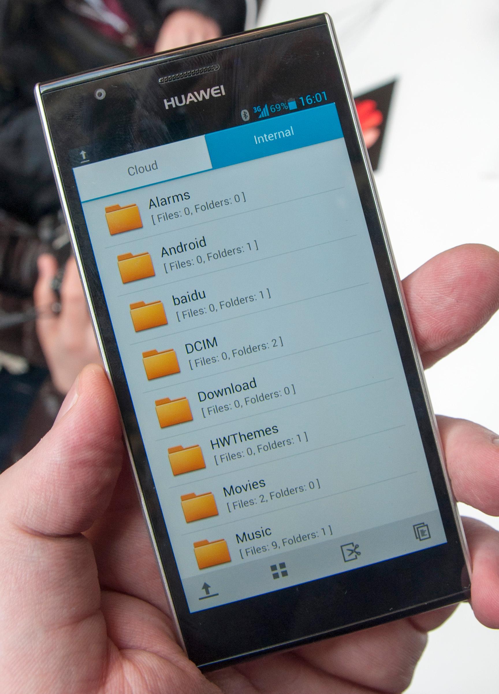 Ascend P2 leveres med filutforsker.