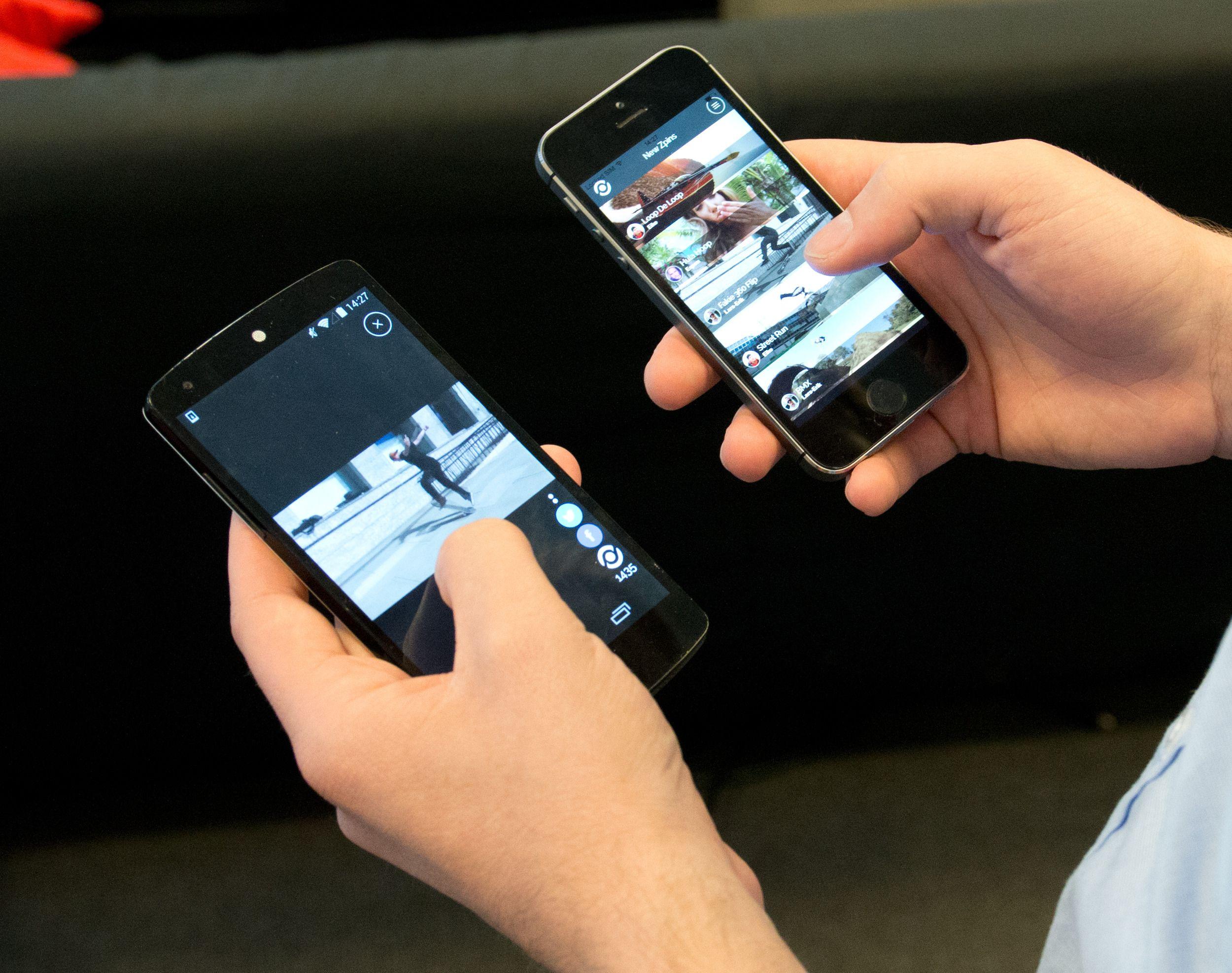 Appene virker på tvers av plattformene, enten det er Android eller iOS. Her representert med Zpindler.Foto: Rolf B. Wegner, Hardware.no