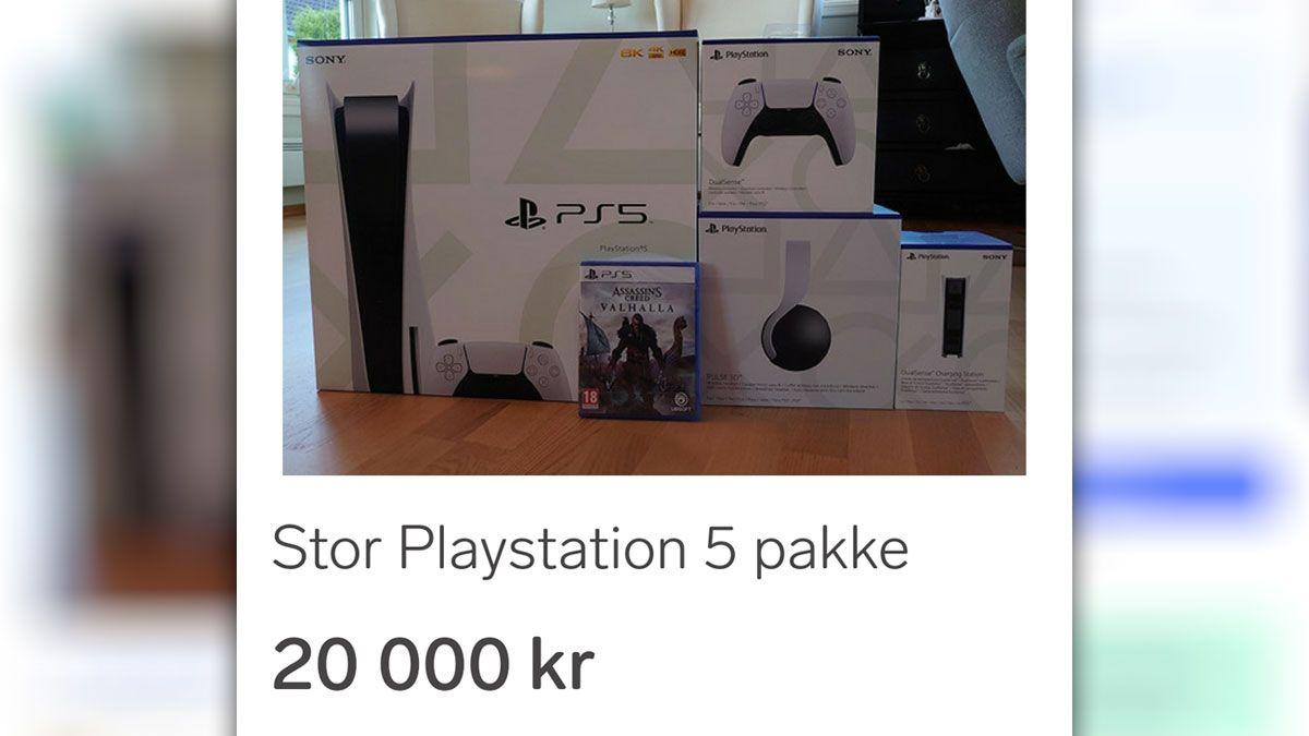 Mange har lagt ut PlayStation 5-konsoller til over dobbel pris på Finn.no.