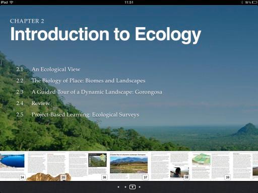 Du kan navigere raskt i innholdet i boken ved å bruke filmremsen nederst når du holder iPad-en i landskapsmodus.