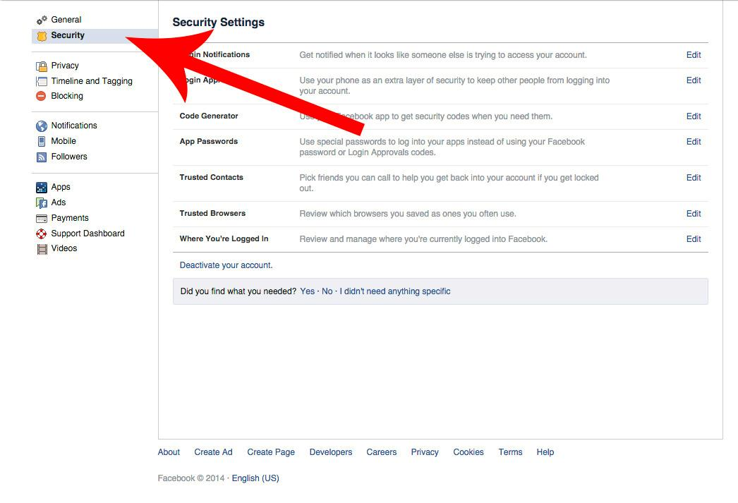 Facebook - steg 2.Foto: Tek.no