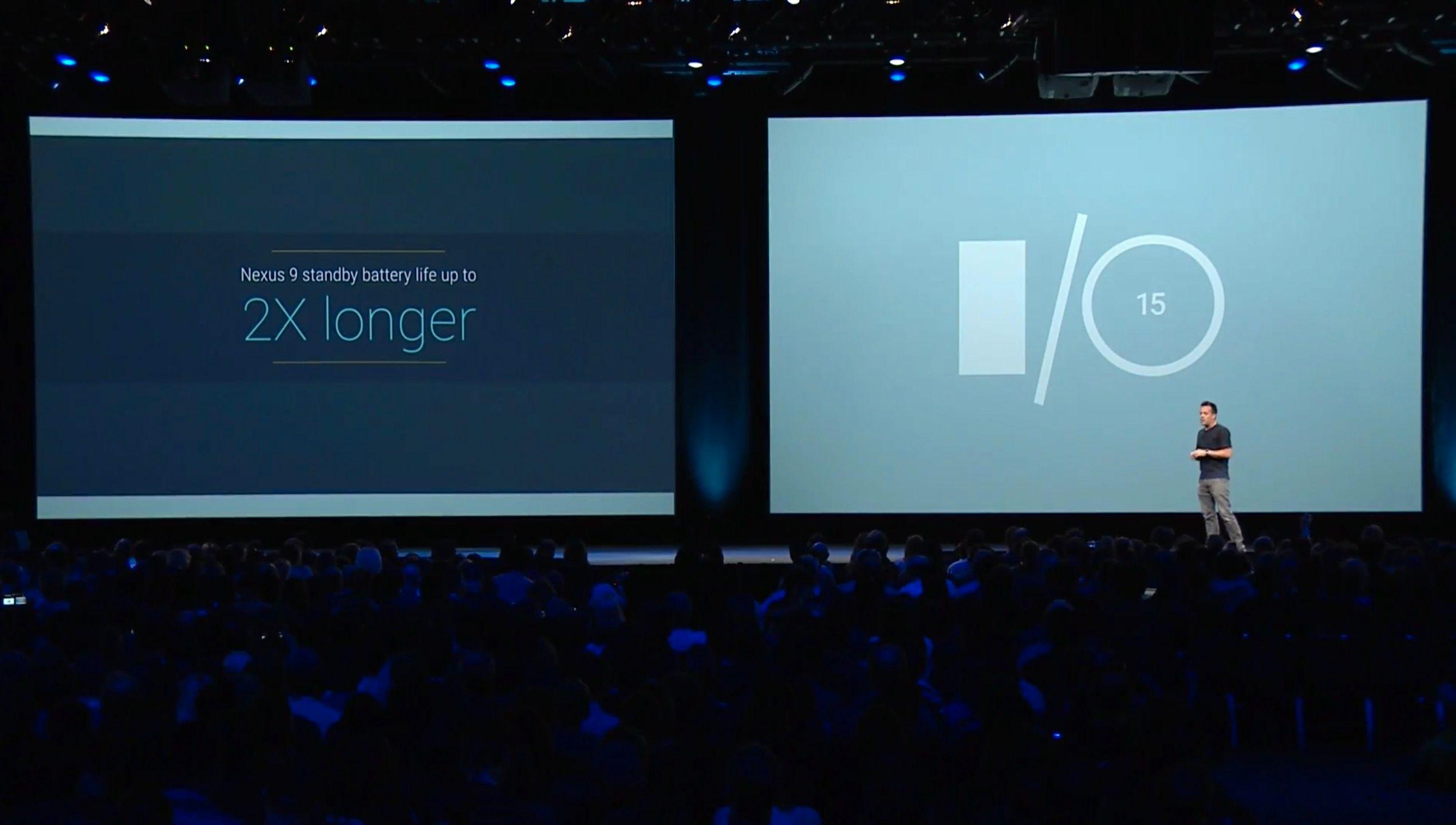 Google klarte å øke batteritiden i Nexus 9 til det dobbelte. Foto: Skjermdump, Youtube/Google