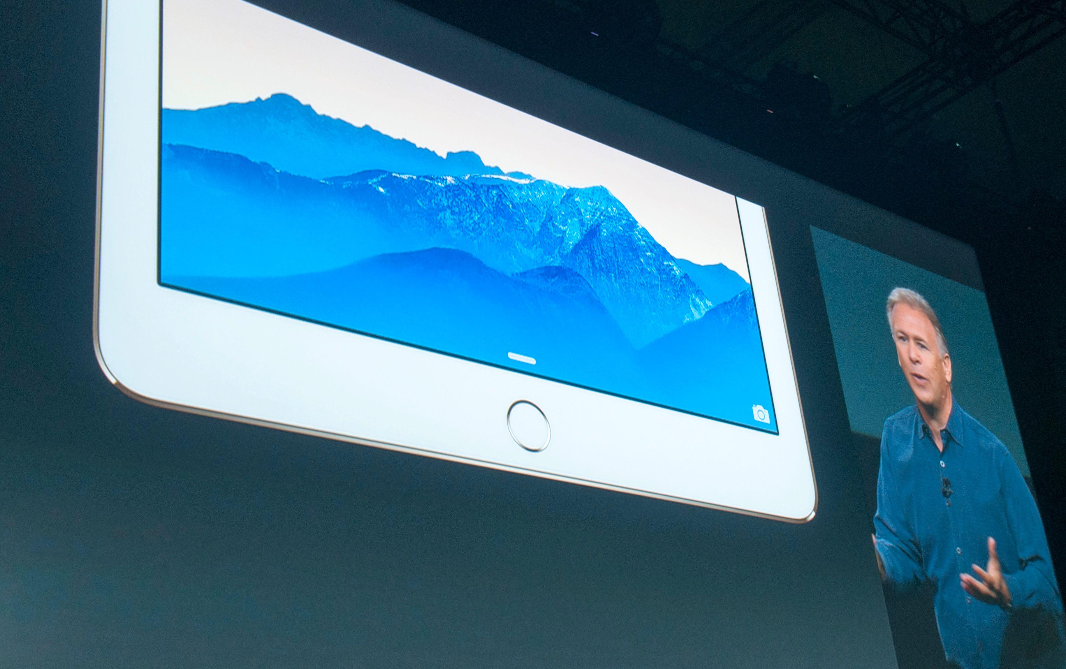 Touch ID vises frem. Det betyr at du kan låse opp padden med fingeravtrykket ditt.