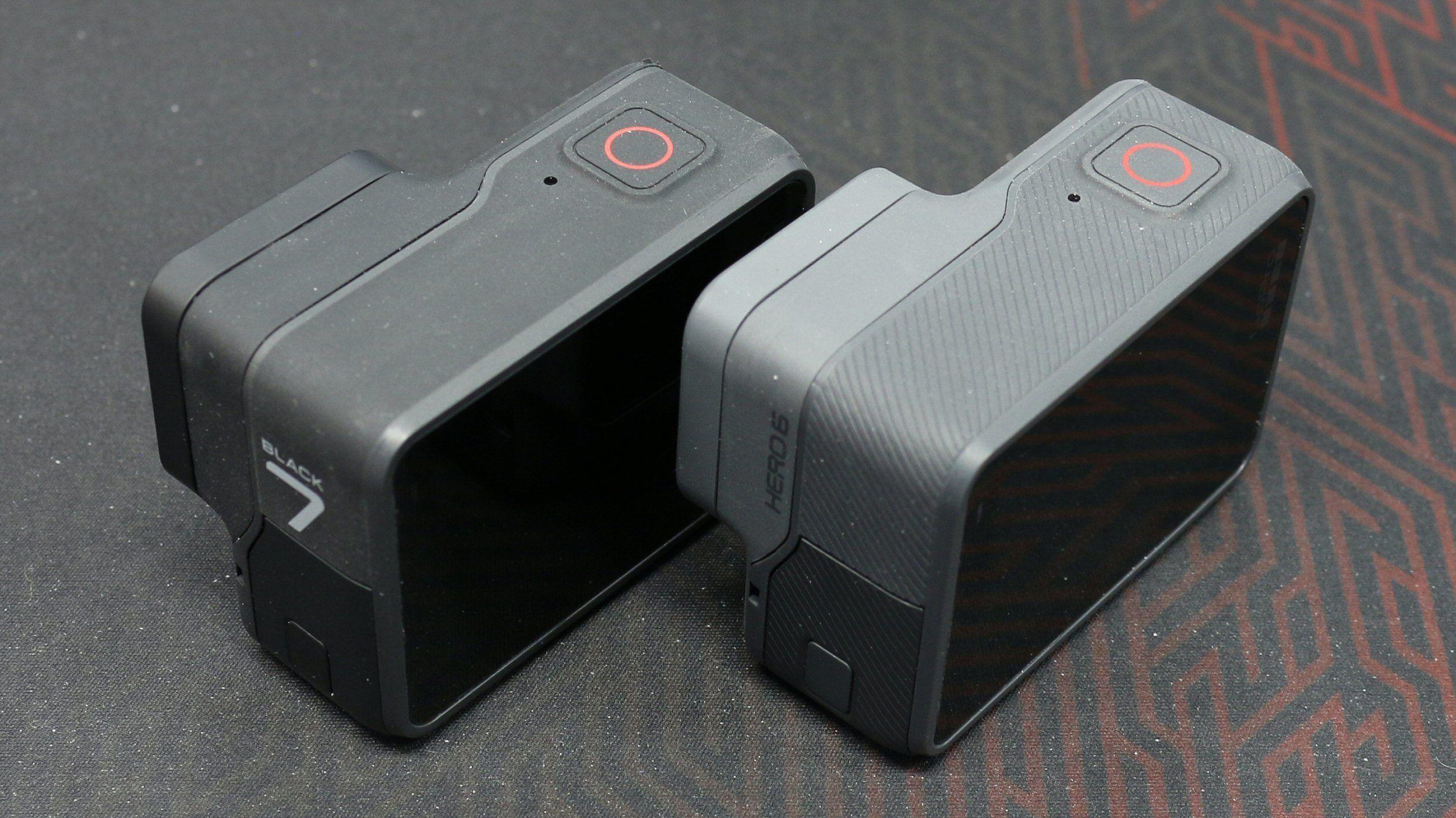 GoPro Hero7 Black til venstre er tydelig mer black enn Hero6 Black til høyre.