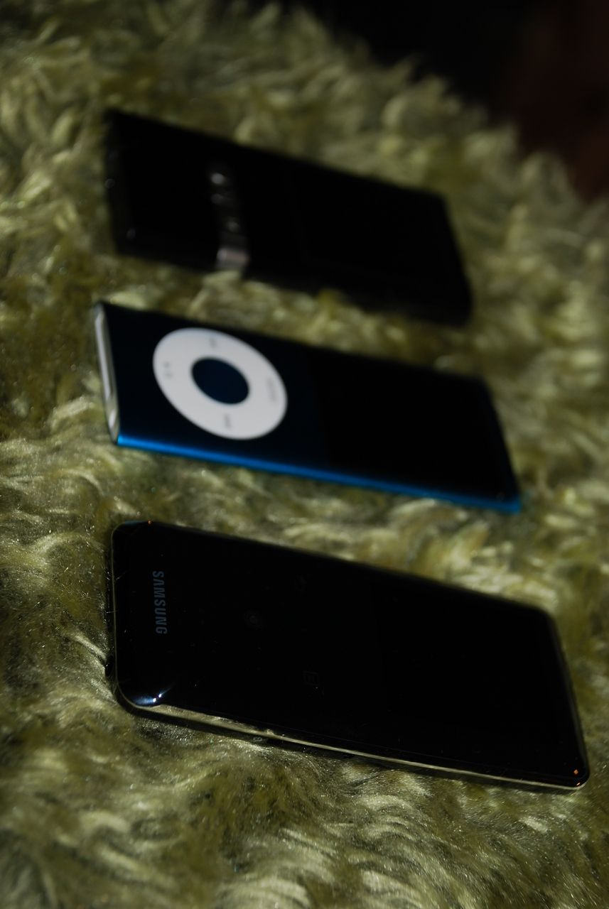 S3 sammen med Cowon U5 og nye Ipod Nano