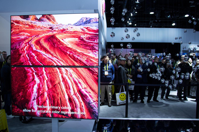 LG er demonstrerte sin Nano Cell-teknologi, som gir tradisjonelle LCD-skjermer bedre bildekvalitet.