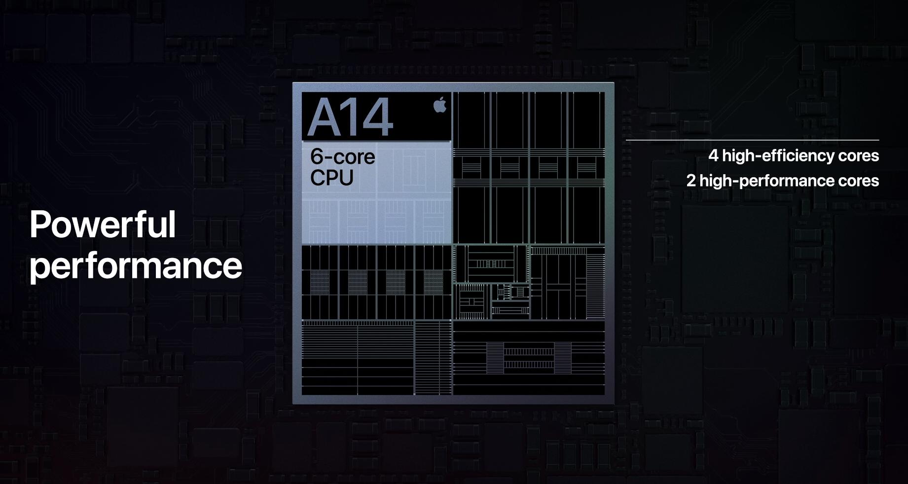 A14-prosessoren er laget på en svært avansert 5 nm-prosess.