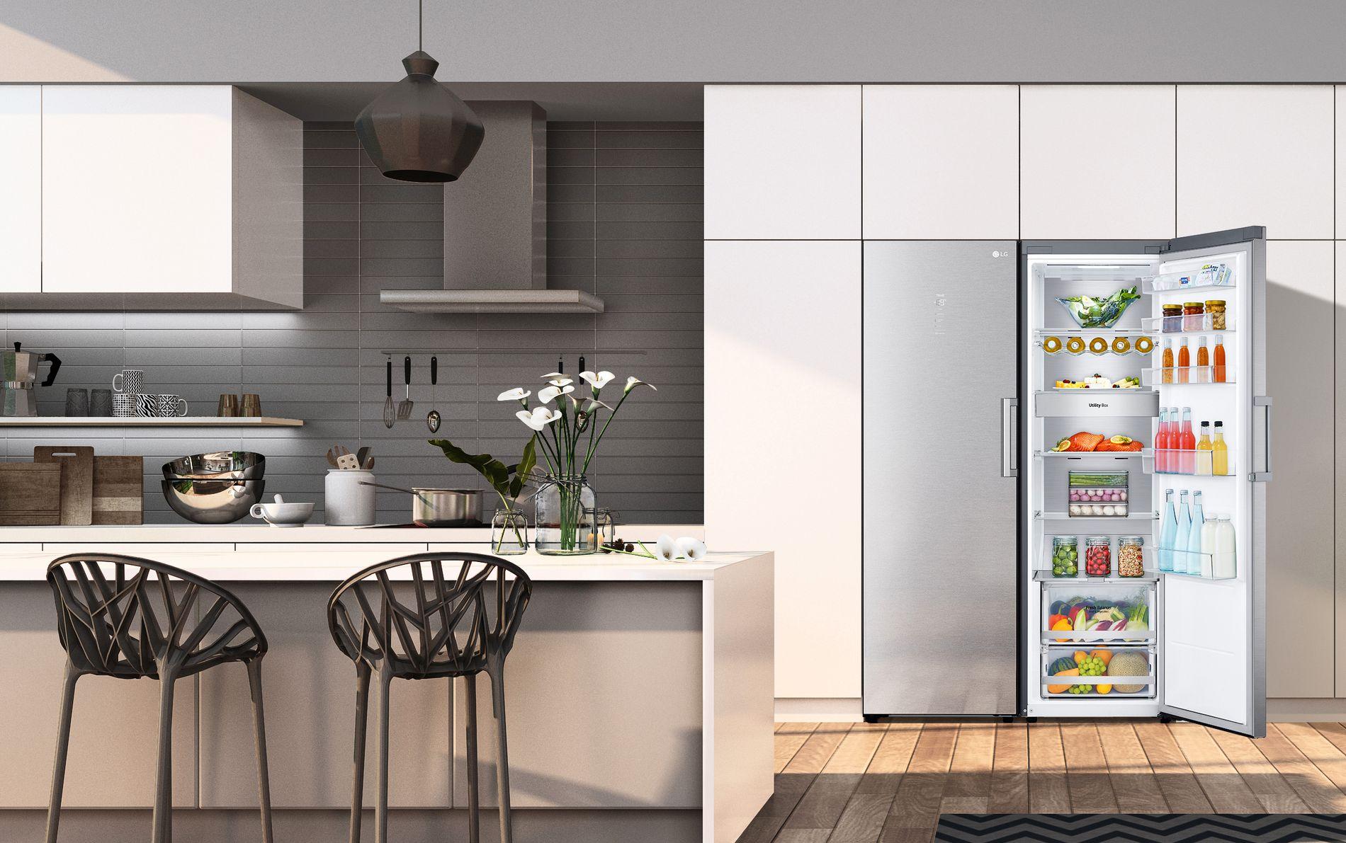 LGs kjøleskap er spesiallaget for at matvarene dine skal oppbevares mest mulig hensiktsmessig.