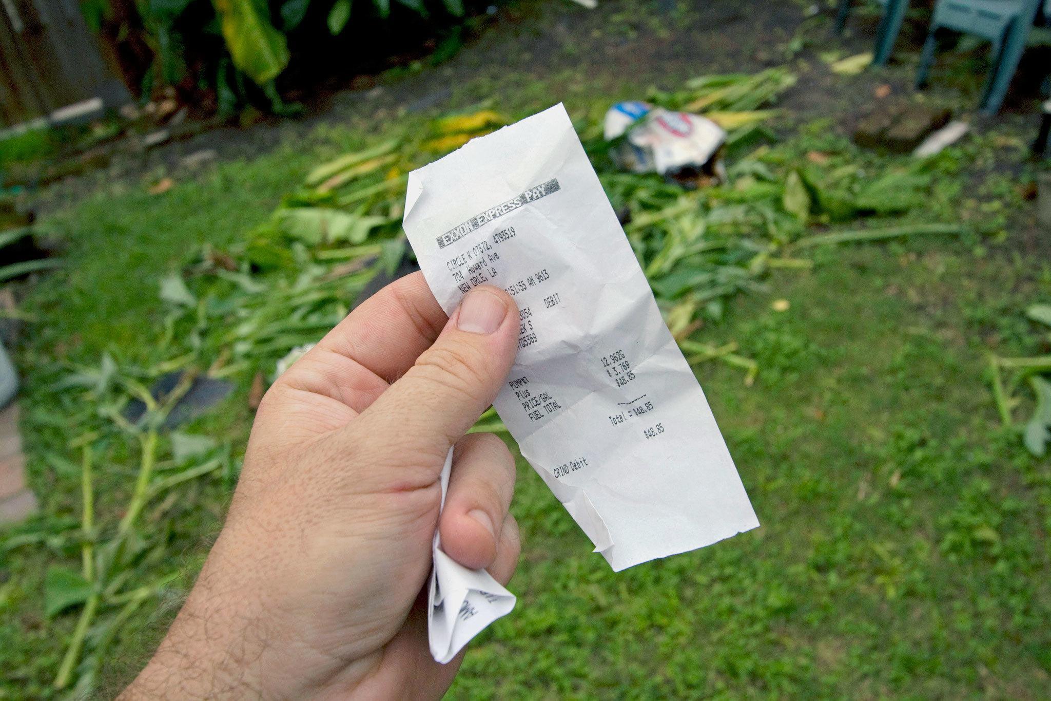 Husk å ta vare på kvitteringen din!.