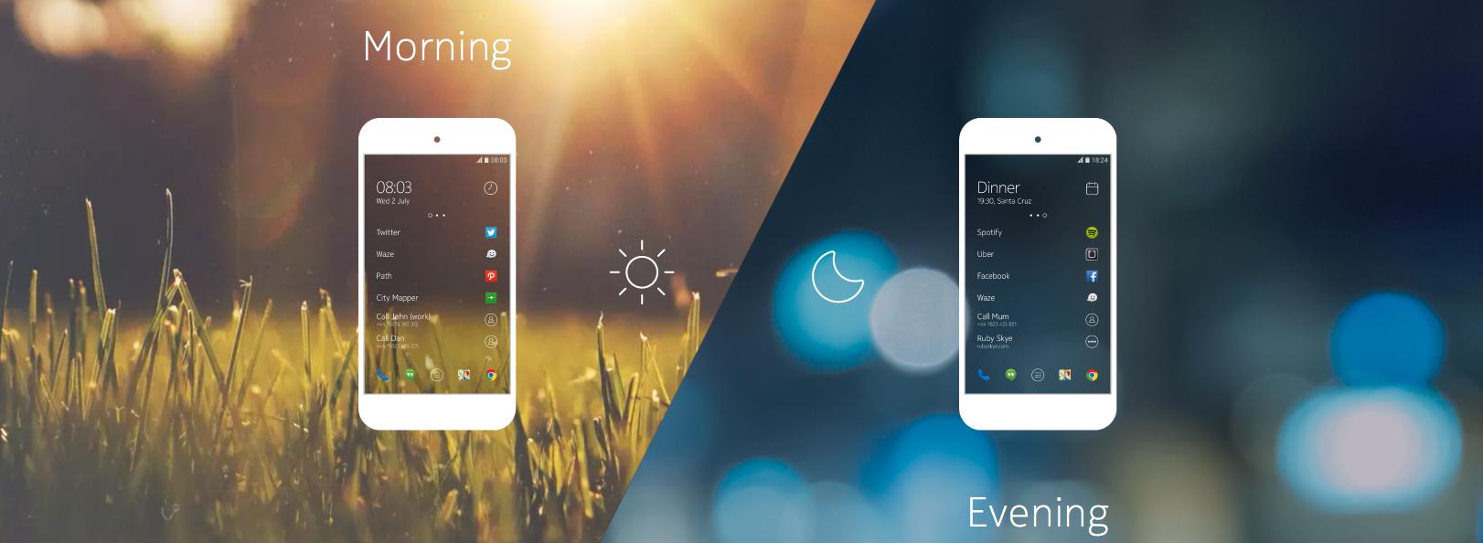 Et egendesignet menysystem skal gi smart tilgang på appene du trenger, når du trenger dem.Foto: Nokia