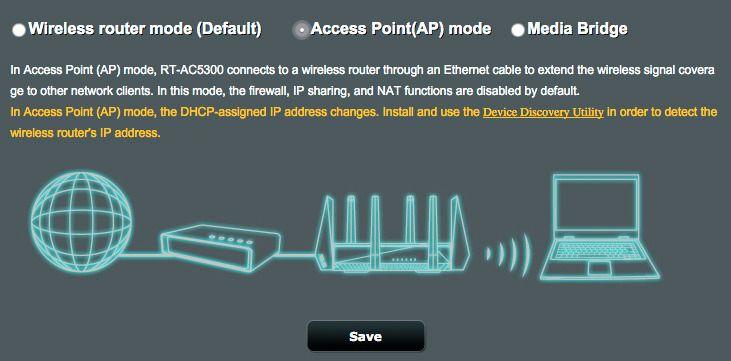 Slik setter du opp aksesspunktmodus på Asus' trådløse rutere. Asus
