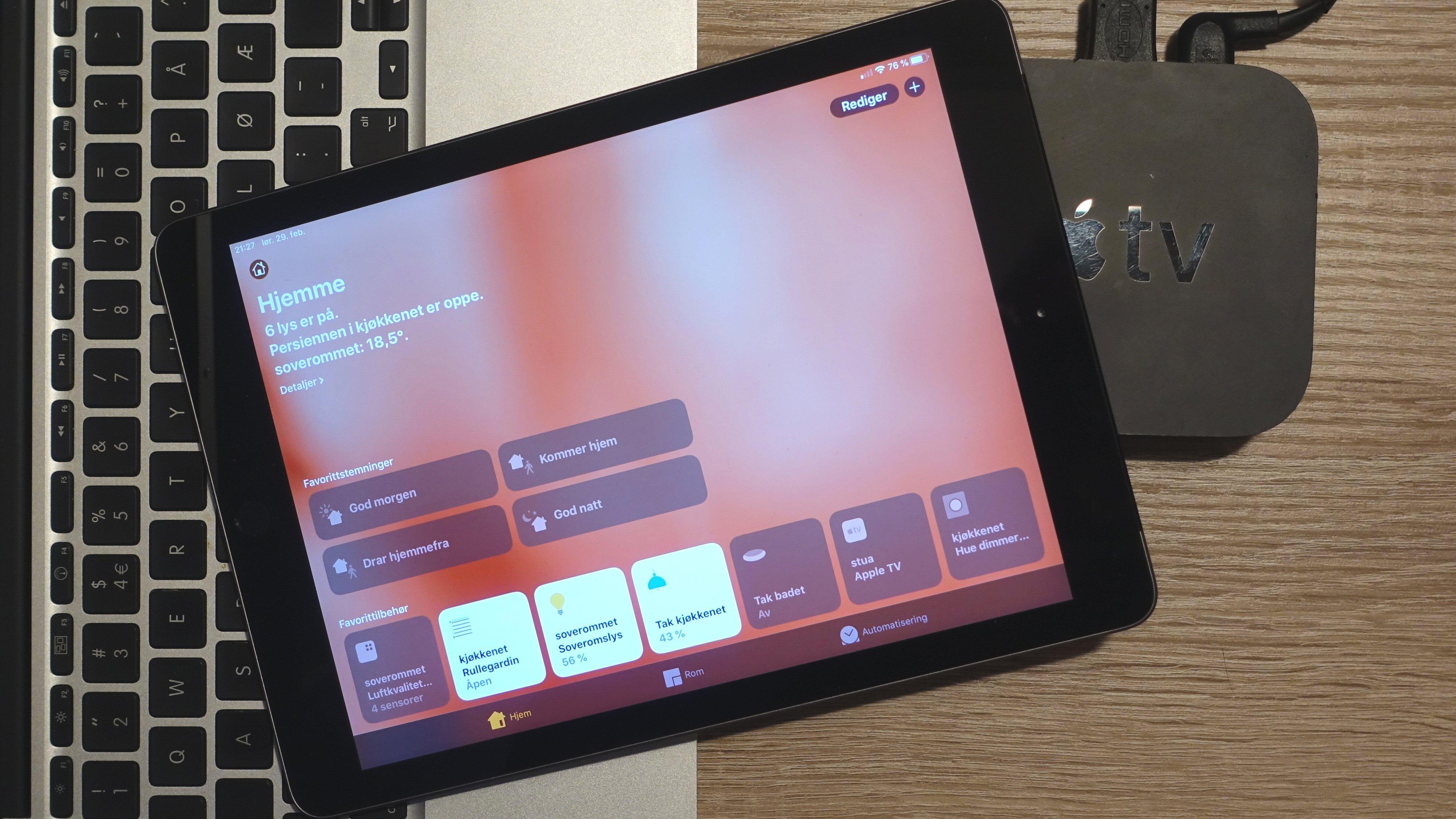 Kjekt å ha for å styre med HomeKit: Mac, iPad eller Apple TV.
