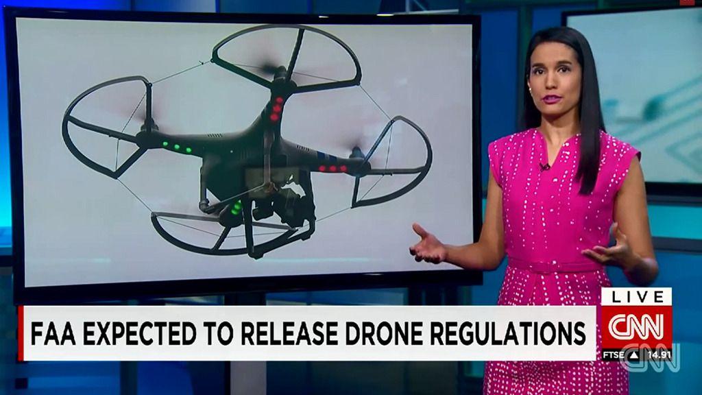 CNN får bruke droner på direkten