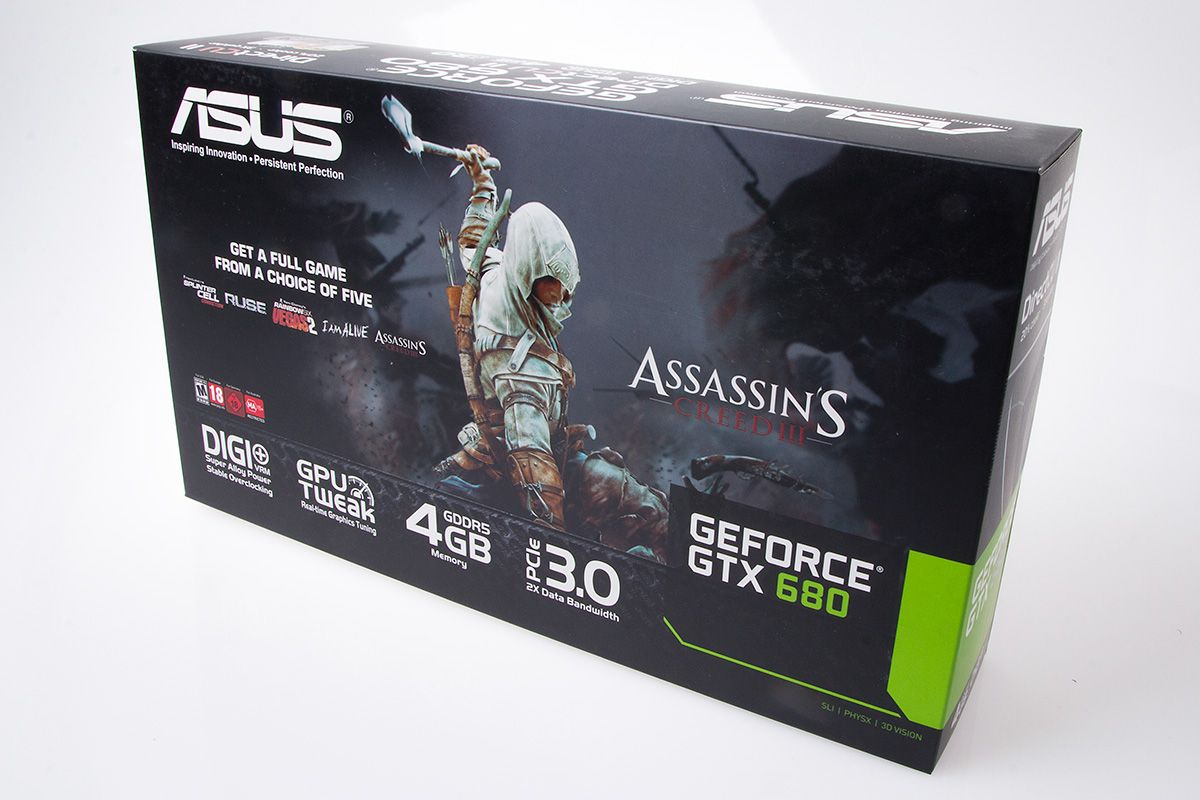 Asus GeForce GTX 680 DirectCU II: Produkteske.Foto: Varg Aamo, hardware.no