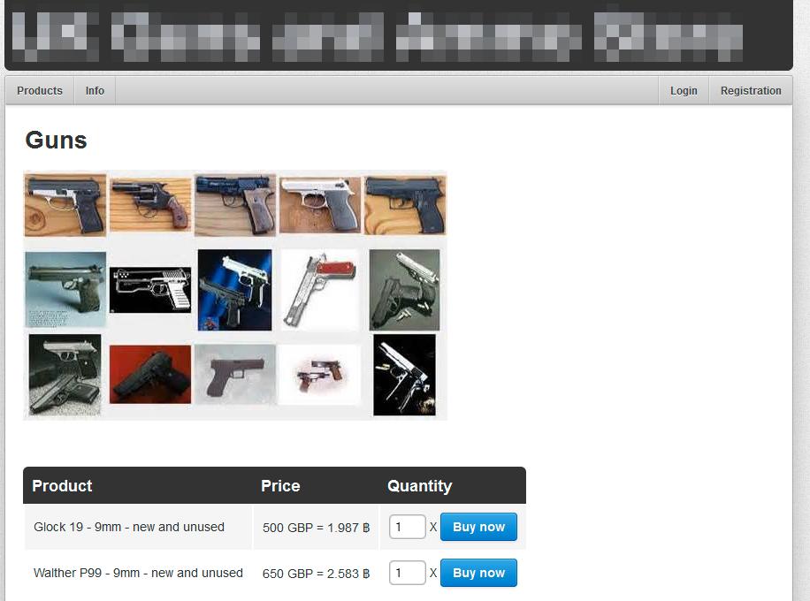 Skytevåpen kan kjøpes fra flere sider.