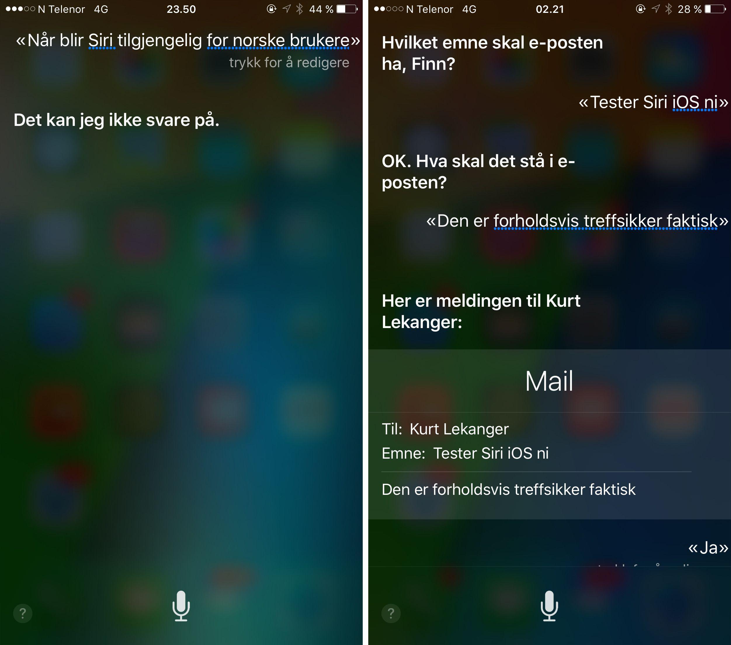 Akkurat som sitt opphav er Siri sparsom med informasjonen. Hvor treffsikker den er varierer voldsomt. Foto: Finn Jarle Kvalheim, Tek.no