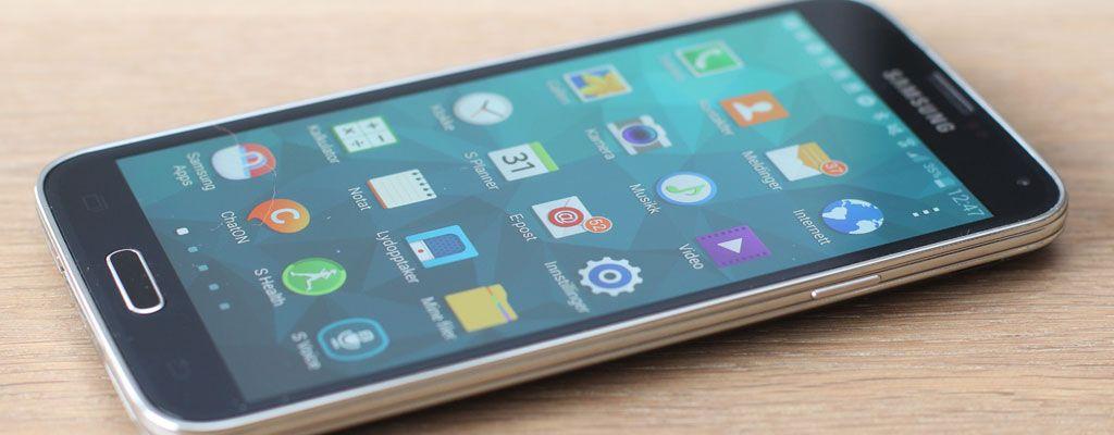 Sasmung Galaxy S5.