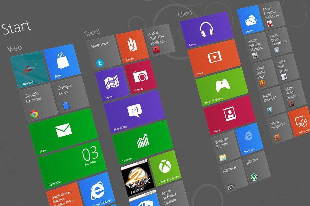 Her er de nye snarveiene i Windows 8 Sniktitt Tek.no