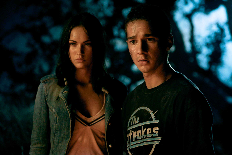 "Shia LaBeouf og Megan Fox i filmen ""Transformers""."