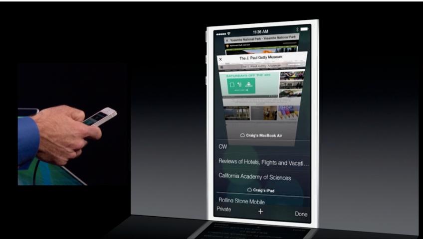 Helt i bunnen av fanene i Safari finner du iCloud-fanene fra dine andre Apple-enheter.Foto: Apple