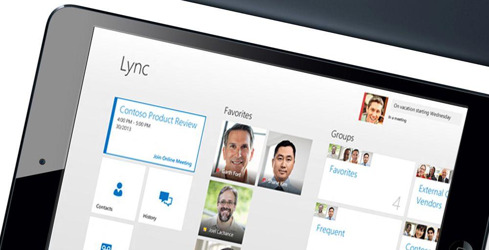 Microsoft Lync kommer til mobil og nettbrett