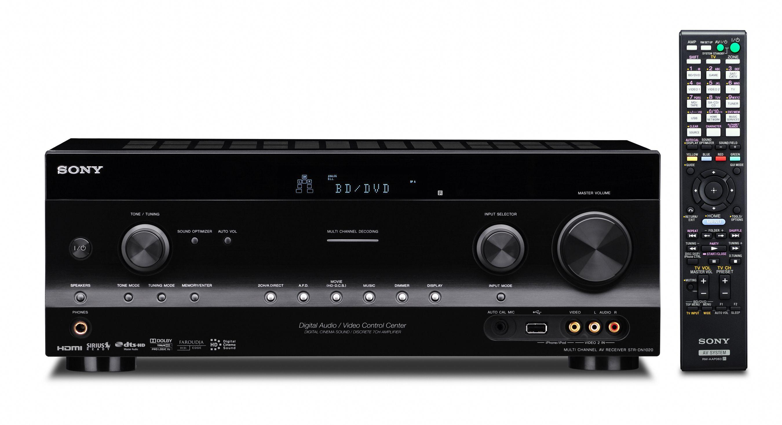 Fire nye receivere fra Sony