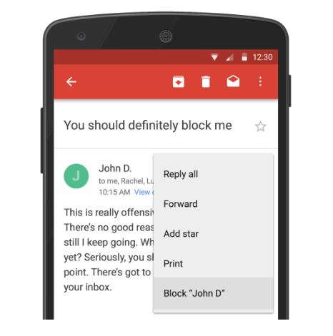Slik vil blokkeringsfunksjonen se ut på Android. Foto: Google
