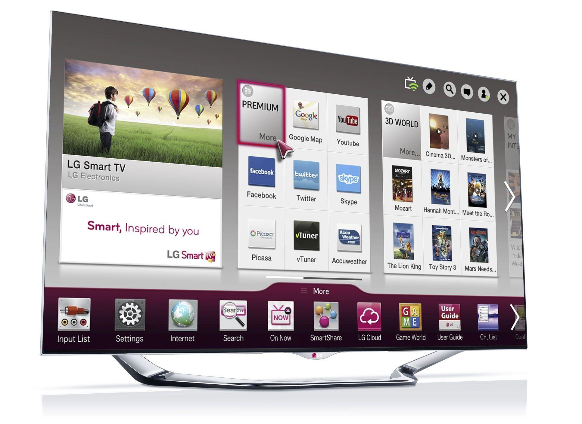 LGs nye LED-LCD-toppmodell LA8600.Foto: LG