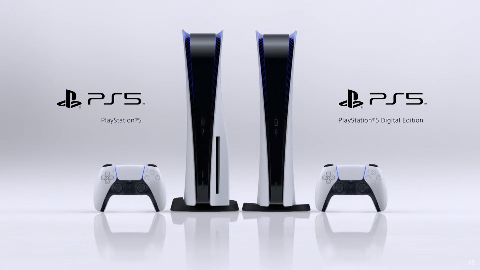 Slik vil neste generasjon PlayStation se ut. Utgaven til venstre i bildet har plass for fysiske plater, mens den til høyre er en helt nettbasert versjon som laster ned innholdet.