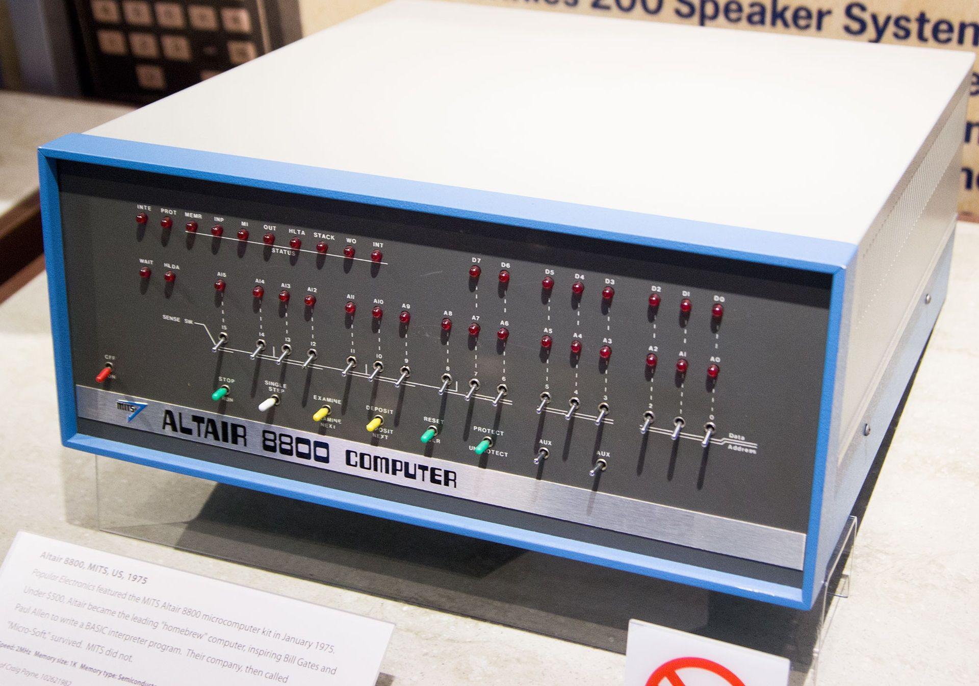 Altair 8800 står utstilt på Computer History Museum i California. Foto: Hardware.no
