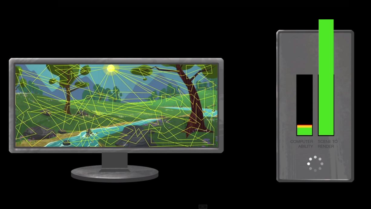 Simuleringen av alle lysstrålene kan bli for mye for datamaskinen, og gjør det nødvendig å effektivisere prosessen. Foto: Disney/YouTube