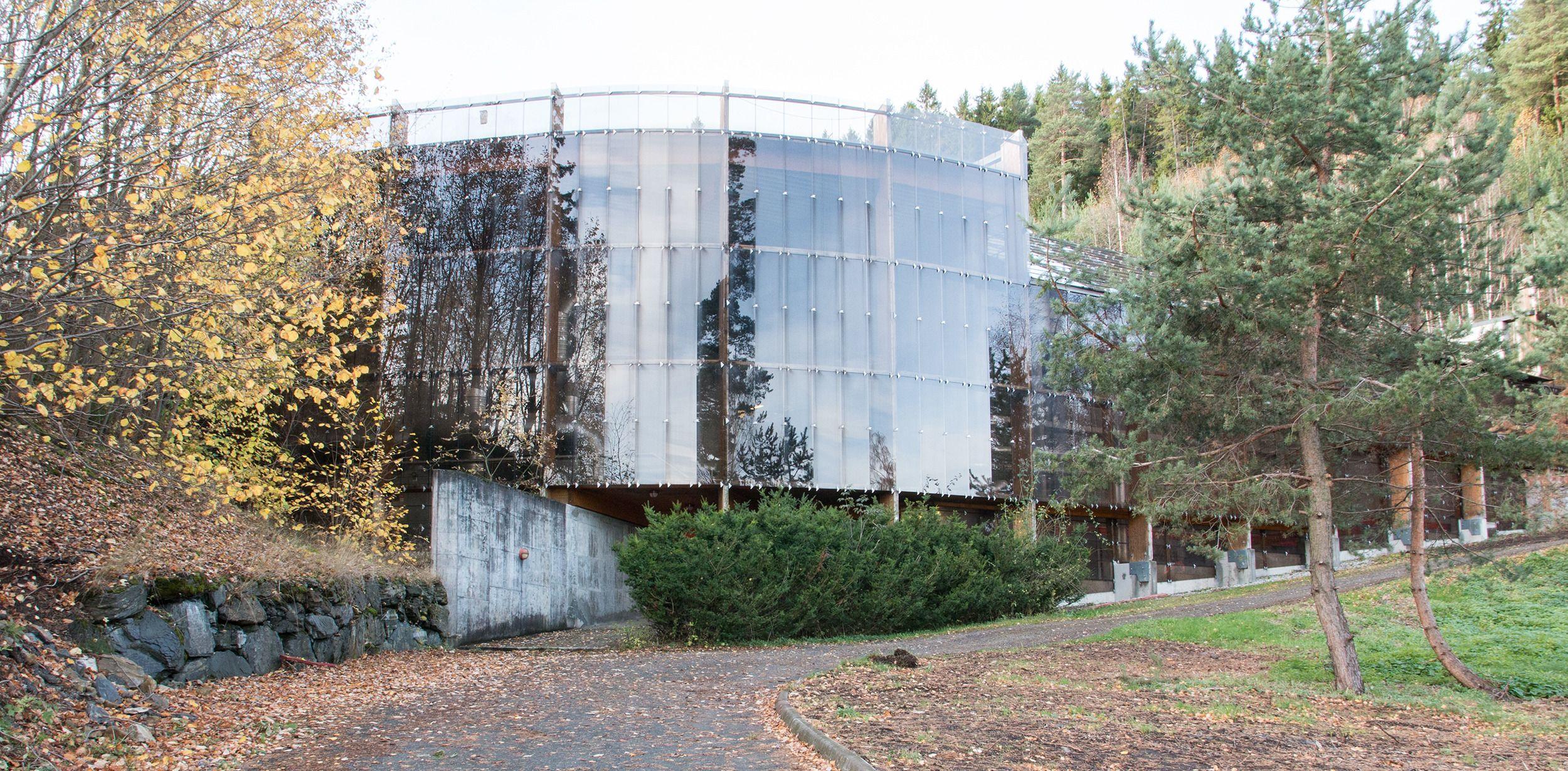 Fasaden til biogassanlegget.