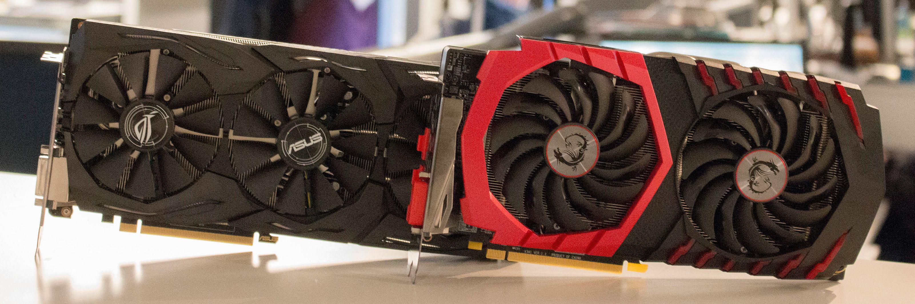 Hvilket av de to mellomklassekortene Asus GTX 1060 Strix OC og MSI RX 480 Gaming X bør du investere i?